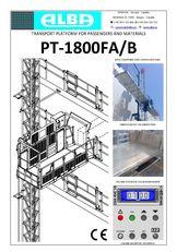 plataforma suspensa PT ALBA 1800FA/B novo